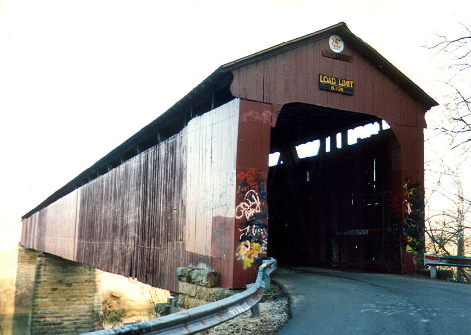 Williams Bridge, Lawrence County, Indiana.  Photographed in 1991.