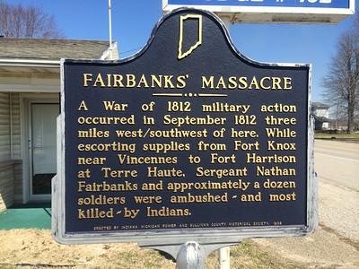 Fairbanks Massacre, Fairbanks, Sullivan County, Indiana.  Photographed March 2014.