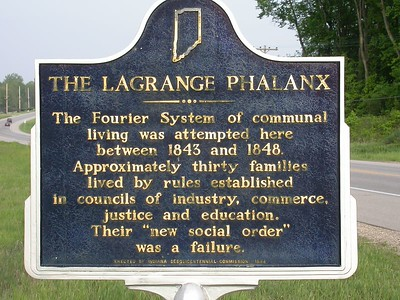 Marker is located on State Road 20 west of Lagrange, Indiana.
