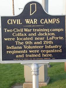 LaPorte Civil War Camp Historical Marker.
