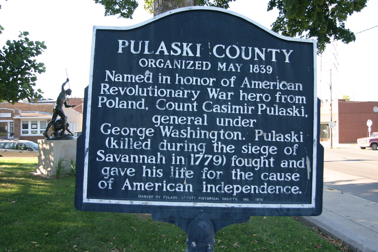 Located on the Pulaski County Courthouse Square, Winamac, Indiana.