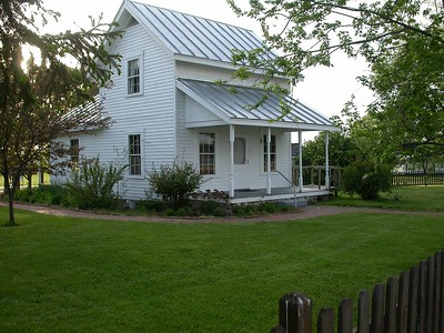 Wilbur Wright's birthplace in Henry County, Indiana.