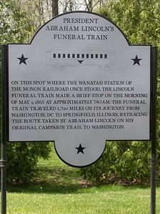 Lincoln's Funeral Train Historical Marker.  Wanatah, Indiana.