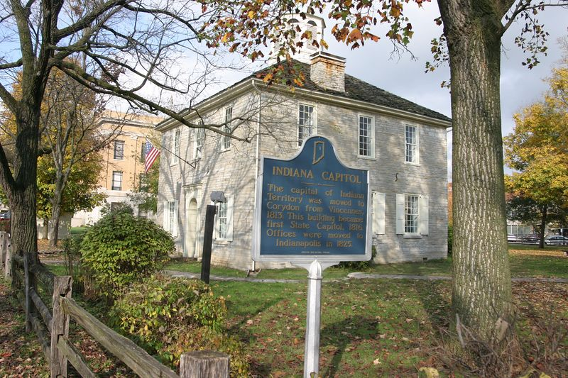 First State Capitol, Corydon, Indiana.  Photographed Oct 2004.
