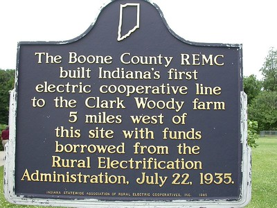 Marker is located at I-65 rest stop northwest of Lebanon, Indiana.