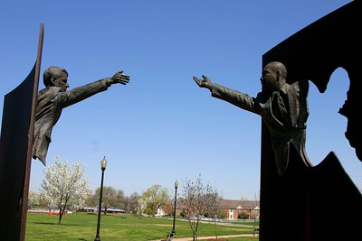 Kennedy King monument near 16th and College in Indianapolis.