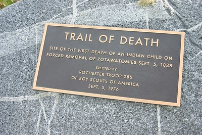 This marker is located a few miles southwest of Rochester, Indiana along State Road 25.