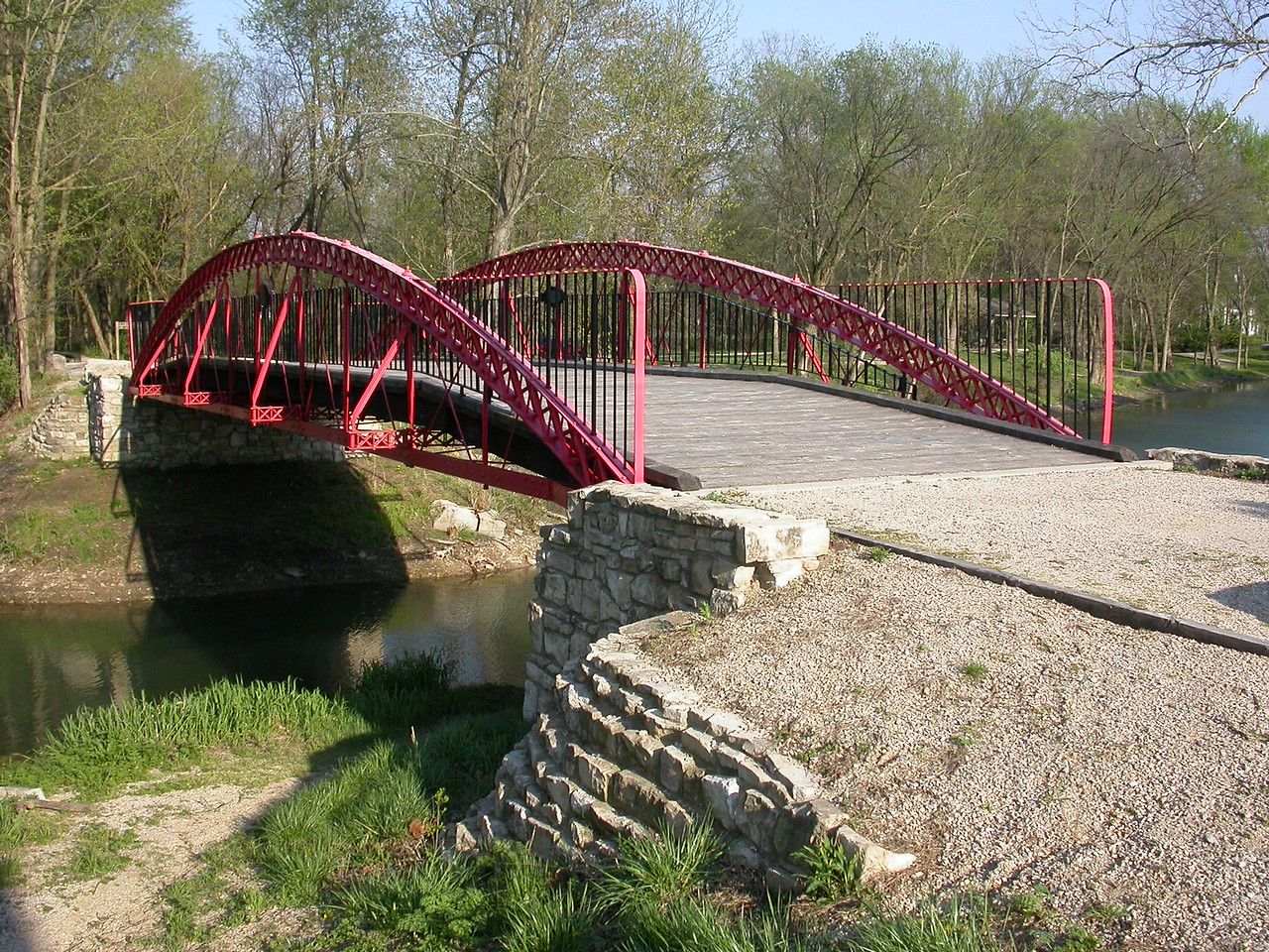 1873 Paint Creek Bridge over the Wabash and Erie Canal, Delphi, Indiana, April 2004.