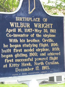 Wilbur Wright Historical Marker, Henry County, Indiana.