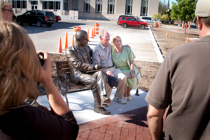 Family: Relatives of Max Ehrmann were on hand for the dedication of the Max Ehrmann. They are Bill Lutz and Sally McClintock