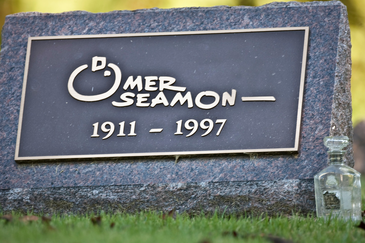 Omer Seamom, Famous painter and artist from Terre Haute, Indiana.  Buried in Highland Lawn Cemetery in Terre Haute.