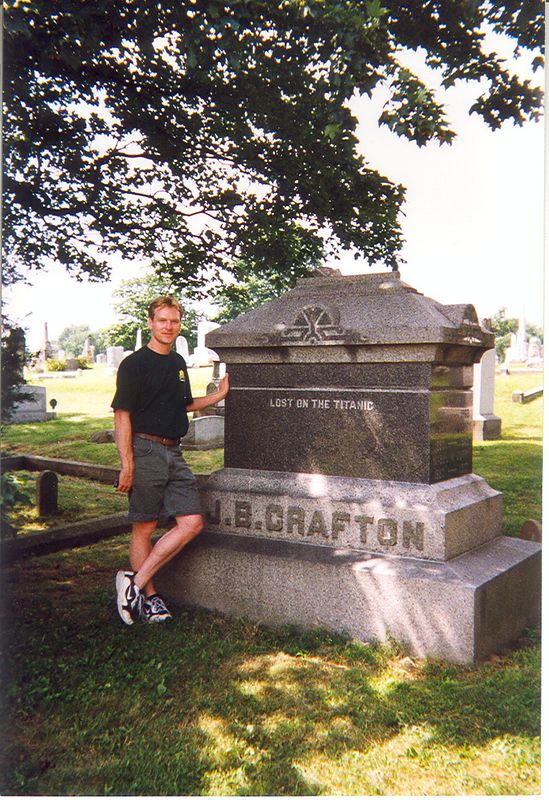 "J.B. Crafton, 1912. ""Lost on the Titanic"".  Bloomington, Indiana City Cemetery."