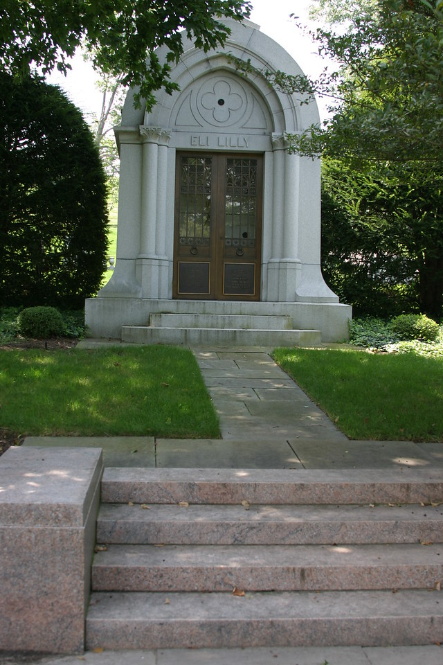 Eli Lilly, Founder of Eli Lilly and Company, 1838 - 1898, Crown Hill Cemetery, Indianapolis.