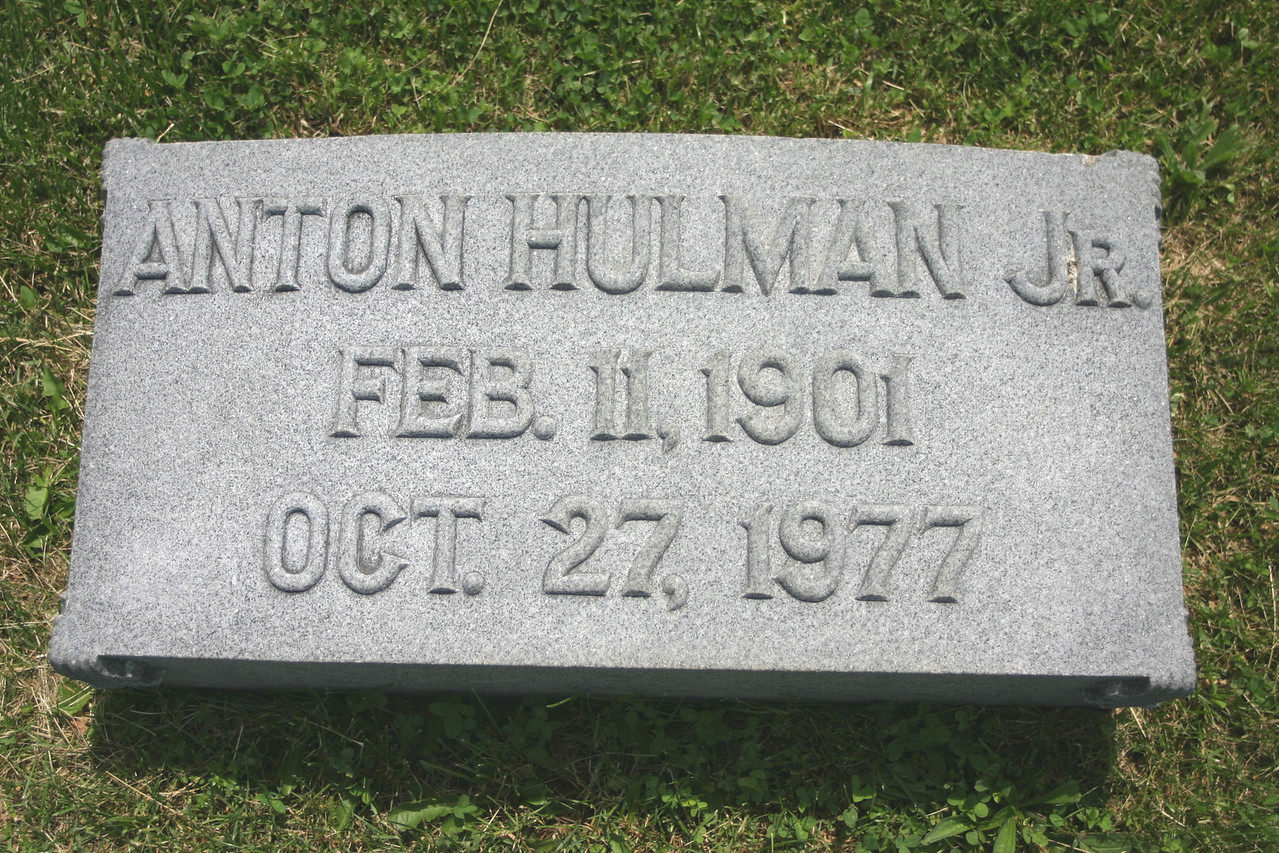 "Anton Tony Hulman, Saved the Indianapolis 500 track from destruction following WW2 and made the track the ""Greatest Spectacle in Racing"".  Buried in Calvary Cemetery, Terre Haute, Indiana"