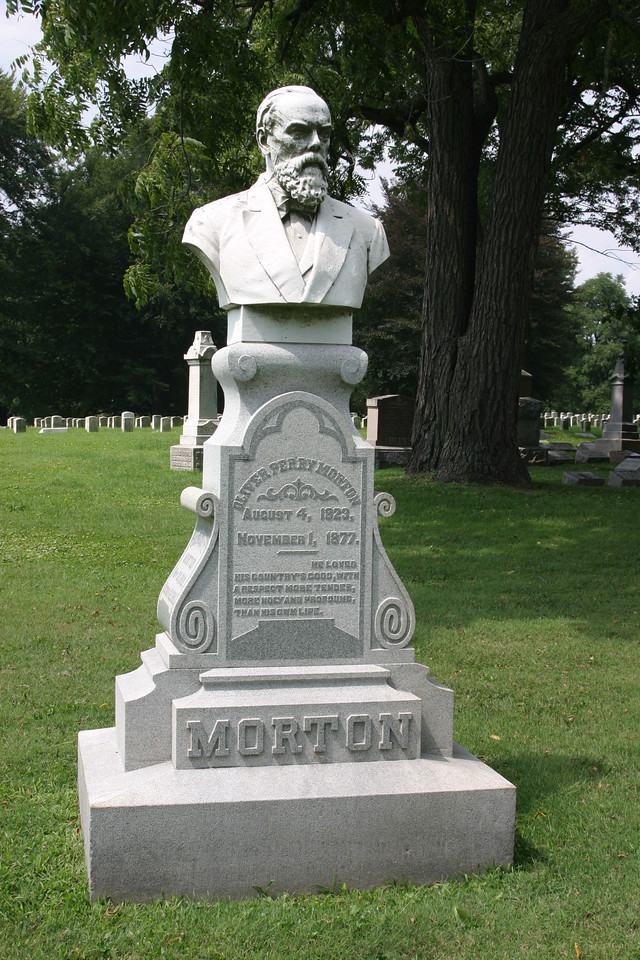 Oliver Morton, U.S. Senator and Indiana Civil War Governor, 1823 - 1877, Crown Hill Cemetery, Indianapolis.