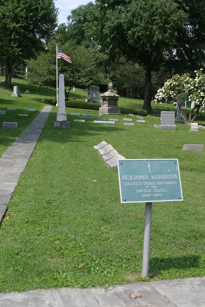 Benjamin Harrison, 23rd U.S. President, 1833-1901, Crown Hill Cemetery, Indianapolis.