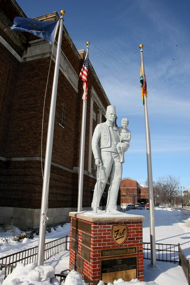 Shriner's Monument on North 7th Street in Terre Haute.  Feb 2007.
