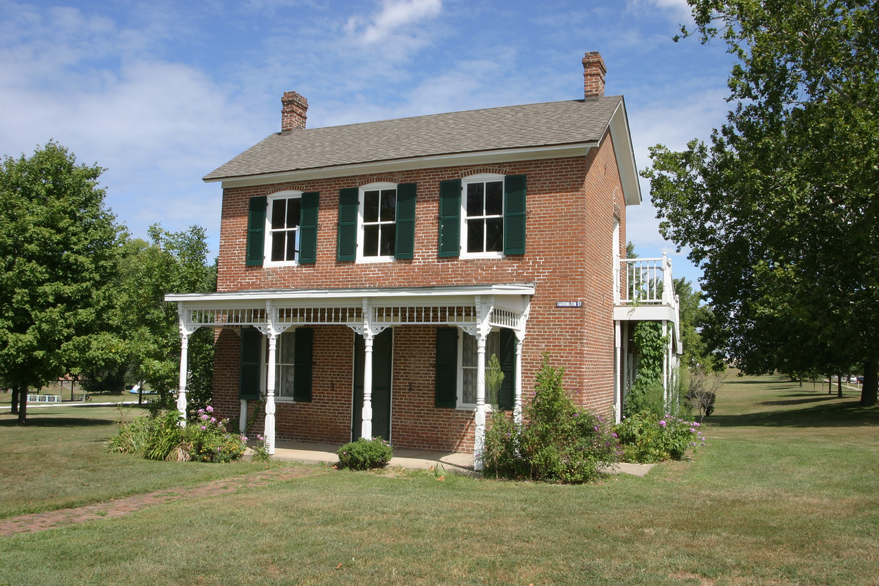 Paul Dresser's birthplace home located in Fairbanks Park, Terre Haute, Indiana.