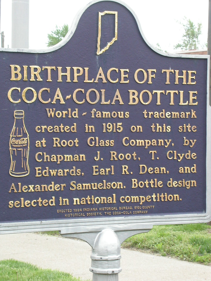 Birthplace of the Coca-Cola Bottle.  South 3rd Street in Terre Haute, Indiana.