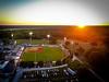 Bob Warn Stadium at Indiana State University Terre Haute Rex baseball game at Sunset