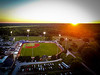 Bob Warn Stadium at Indiana State University Terre Haute Rex baseball game at Sunset