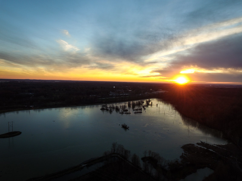 J.I. Case Wetlands Vigo County Sunset