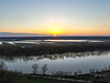 Sunset over Ft. Harrison Vigo County and the Wabash River