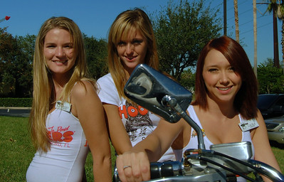 012 Hooters of Sanford Hooter 3 Girls on Motorcycle