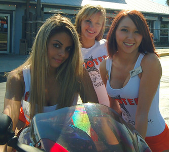 019 Hooters of Sanford Hooter 3 Girls on Motorcycle