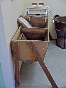 Wooden Wash Troughs.