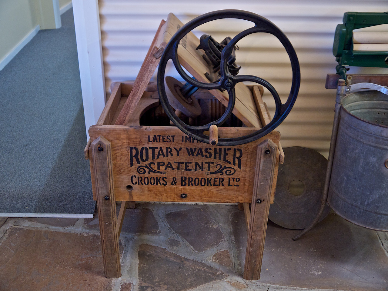 Close up view of an old Rotary Washer