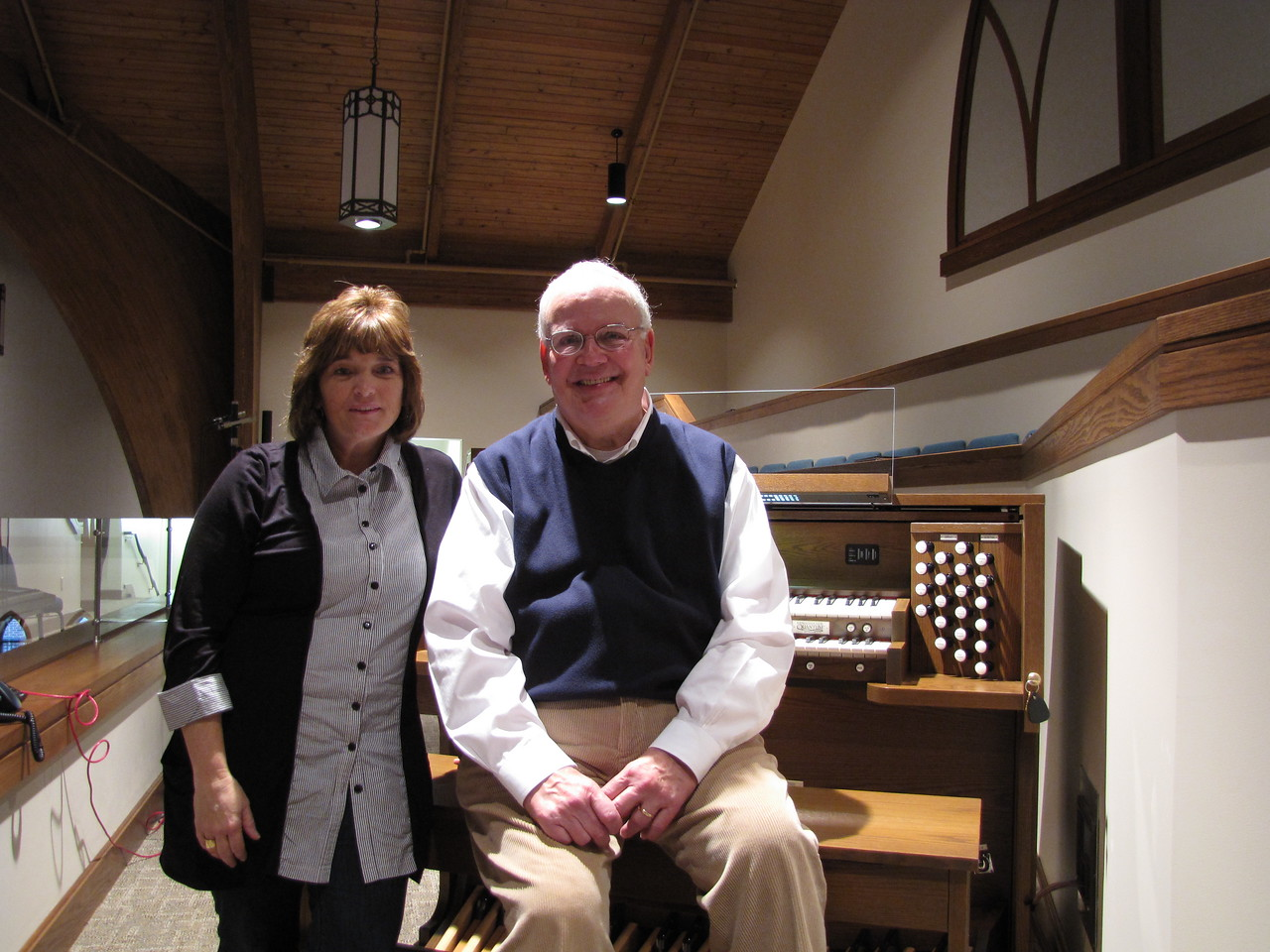A happy organist and building committee chair...