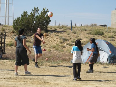 Volleyball with Nevaeh and Naomi