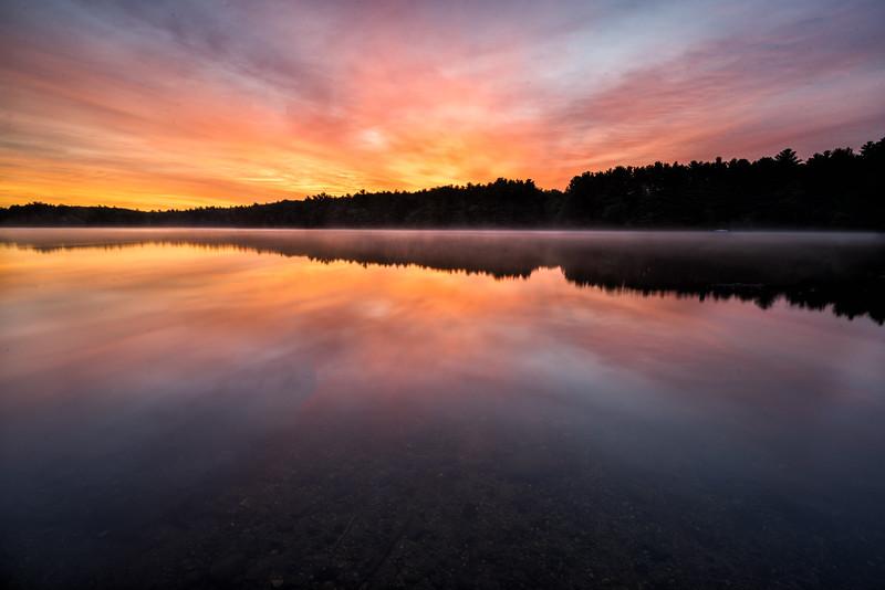 Summer Sunries Reflections - Lake Whitehall - Tom Sloan