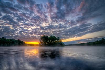 Foggy Sunrise on the Water
