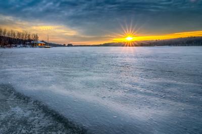 Sunstar at Sunrise - Hopkinton State Park