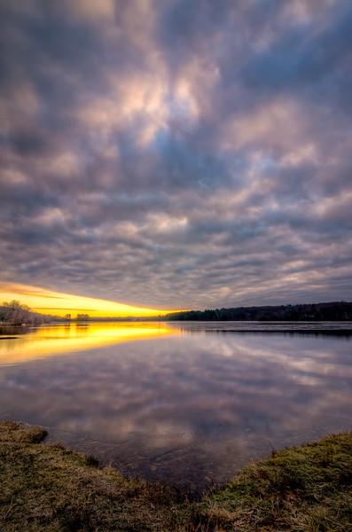 Cloudy Sunrise - Hopkinton State Park