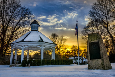 Sunrise over the Hopkinton Town Common