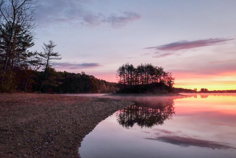 Island Reflections - Hopkinton State Park - Tom Sloan
