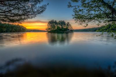 Sunrise Island Framed