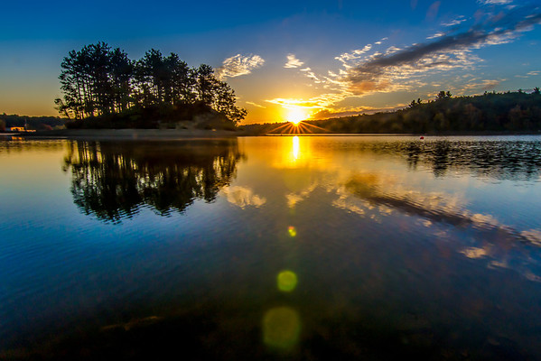 Sunrise and Flare - Hopkinton State Park
