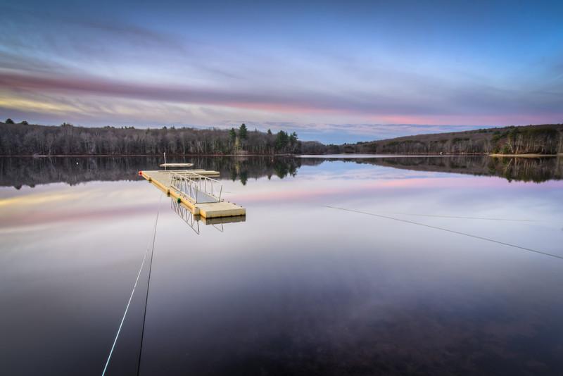 Floating Dock Morning Sky - Hopkinton State Park - Tom Sloan
