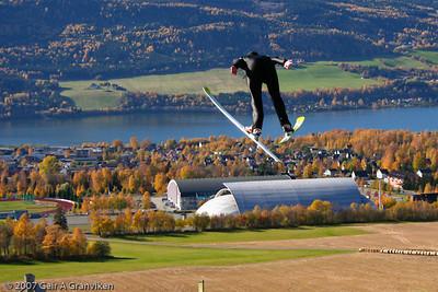 Summer jumping in Lysgårdsbakken K-90, Lillehammer