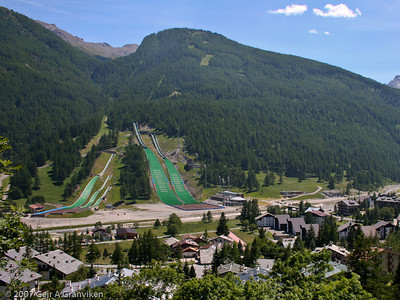 The magnificent ski jumping facilities in Pragelato, Italy, built for the Torino Winter Olympics 2006