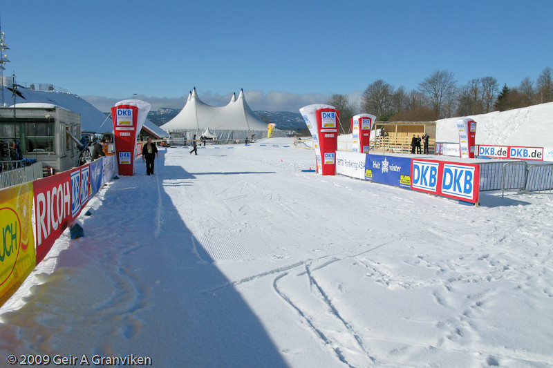 The nordic combined start and finish