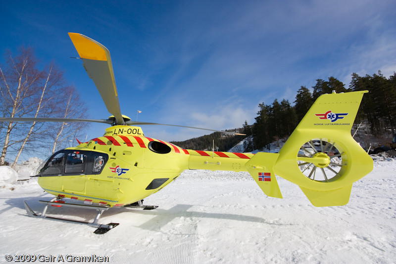 The Air Ambulance helicopter