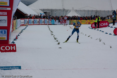 Cross country Saturday - Finish Anssi Koivuranta