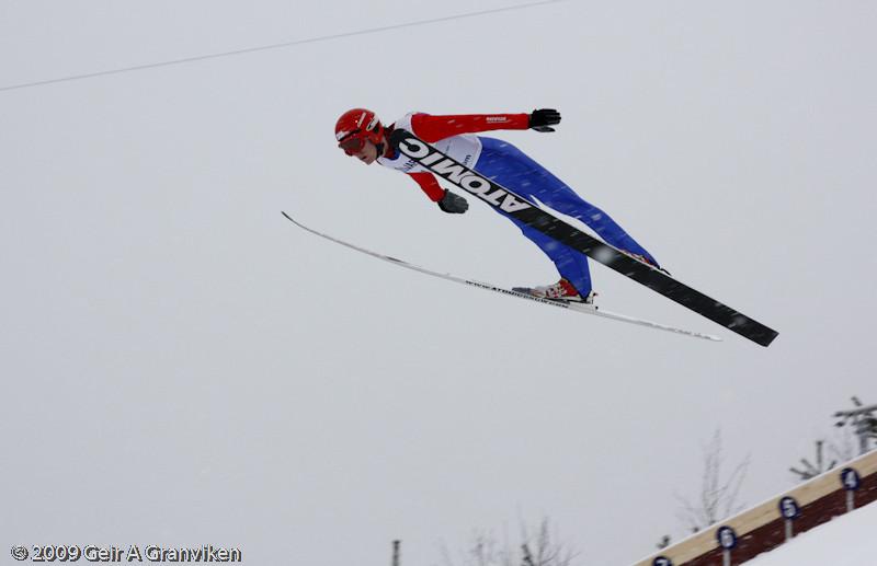 Sindre Trana, Vikersund IF, Norway (trial jumping Thursday)