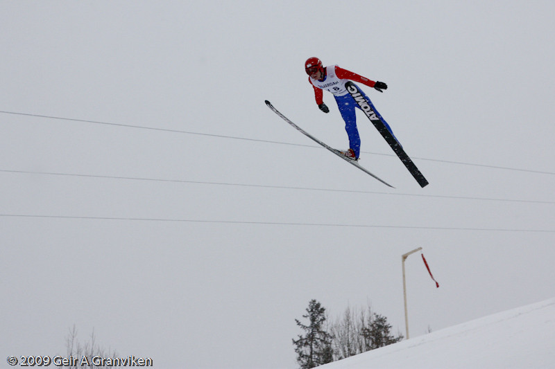 Sindre Trana, Vikersund IF, Norway (trial jumping Thursday)