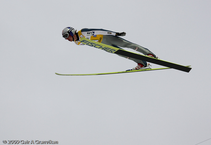 Gregor Schlierenzauer's 224 meters flight, which resulted in a fall. He fortunately escaped with no injuries though (team contest Saturday 2nd round)